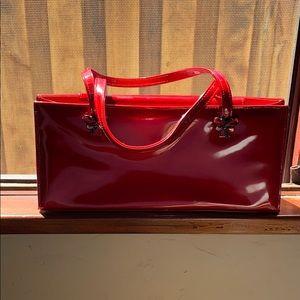 Stuwart Weitzman red patent purse